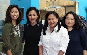 Philippine women from Cleveland pack aid order